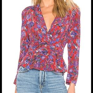 IRO floral printed blouse